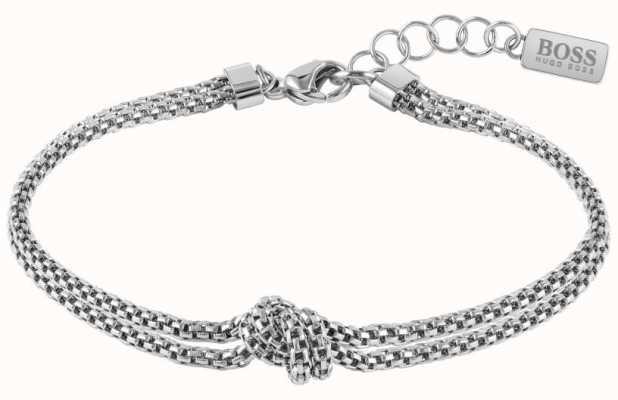BOSS Jewellery Rosette Silver Tone Chain Bracelet 1580079