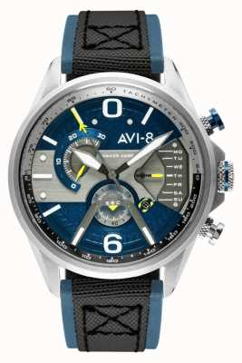 AVI-8 HAWKER HARRIER II | Chronograph | Blue Dial | Blue Leather Black Nato Strap AV-4056-01