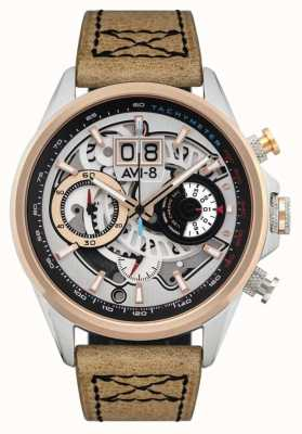 AVI-8 HAWKER HARRIER II | Chronograph | Brown Leather Strap AV-4065-02