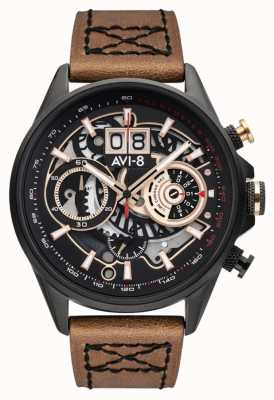 AVI-8 HAWKER HARRIER II | Chronograph | Brown Leather Strap AV-4065-03
