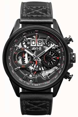 AVI-8 HAWKER HARRIER II | Chronograph | Black Leather Strap AV-4065-05