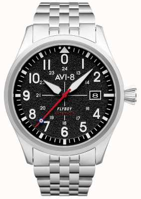 AVI-8 FLYBOY | Automatic | Black Dial | Stainless Steel Bracelet AV-4075-11