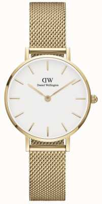 Daniel Wellington | Petite | Evergold 28mm | Mesh White Dial | DW00100350