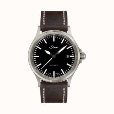 Sinn 556 I Sports Sapphire Glass Vintage Dark Brown Strap 556.010-VINTAGE-DARK-BROWN-WHITE-STITCH
