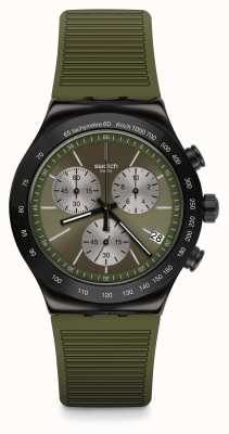 Swatch JUNGLE SNAKE | Green Silicone Strap | Green Dial YVB411