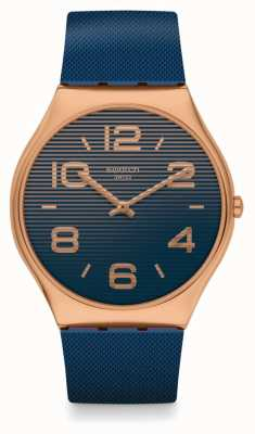 Swatch NIGHT TRICK | Blue Silicone Strap | Blue Dial SS07G101