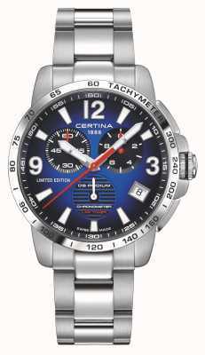 Certina | DS Podium | Lap Timer | Stainless Steel Bracelet | Blue Dial | C0344531104710