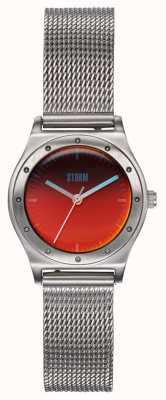 STORM Sian Lazer Red | Steel Mesh Bracelet | Red Dial 47485/R