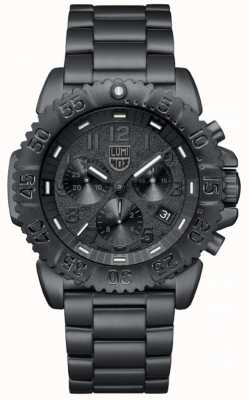 Luminox Men's Navyseal | Black Steel PVP Bracelet | Black Dial A3182.BO