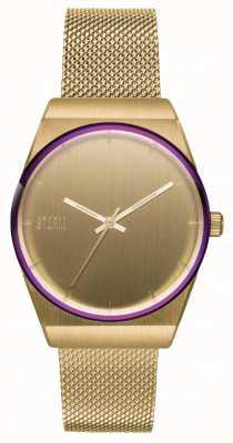 STORM Mini Cirero Gold | Gold Mesh Bracelet | Gold Dial 47486/GD
