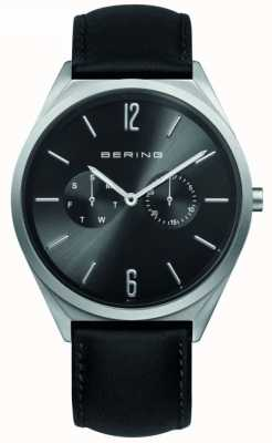 Bering Classic Collection | Black Leather Strap | Black Dial 17140-402
