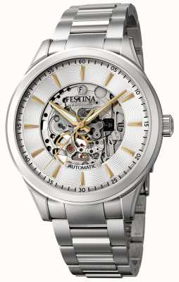 Festina Men's Automatic Skeleton | Stainless Steel Bracelet | F20536/2