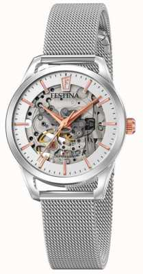Festina Women's Automatic Skeleton | Steel Mesh Bracelet | F20538/1