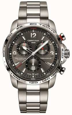 Certina DS Podium Quartz | Grey Titanium Bracelet | Grey Dial C0016474408700
