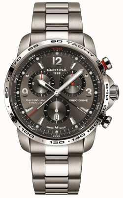 Certina DS Podium Quartz | Grey Titanium Bracelet | Grey Dial C0016474408700