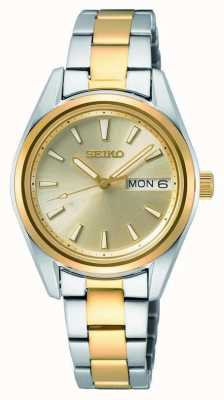 Seiko Women's Quartz | Two-Tone Steel Bracelet | Sunray Dial SUR354P1