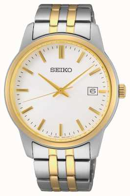 Seiko Men's Quartz | Two-Tone Steel Bracelet | Silver Dial SUR402P1
