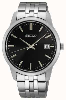 Seiko Men's Quartz | Stainless Steel Bracelet | Black Dial SUR401P1