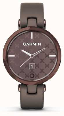 Garmin Lily Classic Edition | Dark Bronze Bezel | Paloma Case | Italian Leather Strap 010-02384-B0