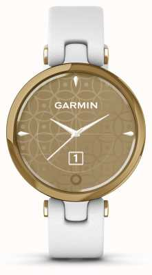 Garmin Lily Classic Edition | Light Gold Bezel | White Case | Italian Leather Strap 010-02384-B3