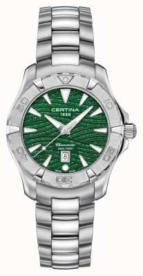Certina Womens DS Action Sparkle Green Dial C0322511109109