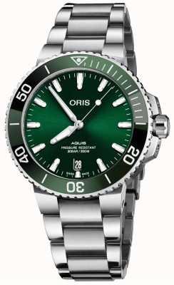 ORIS Aquis Date 41.5mm Green Dial Stainless Steel Bracelet 01 733 7766 4157-07 8 22 05PEB