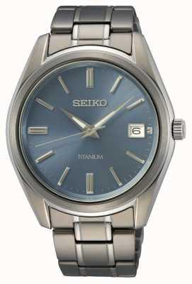 Seiko Men's Quartz Titanium Blue Dial SUR371P1