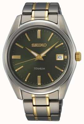 Seiko Men's Quartz Titanium Two Tone SUR377P1