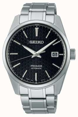 Seiko Men's Presage Sharp Edge Series Black Dial SPB203J1