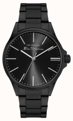 Ben Sherman Men's Black Stainless Steel Bracelet Black Dial BS048BM