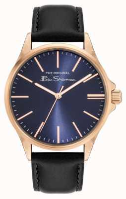 Ben Sherman Men's Navy Pu Leather Strap Blue Dial BS048BRG