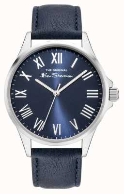 Ben Sherman Men's Blue PU Leather Strap | Blue Dial BS050UB