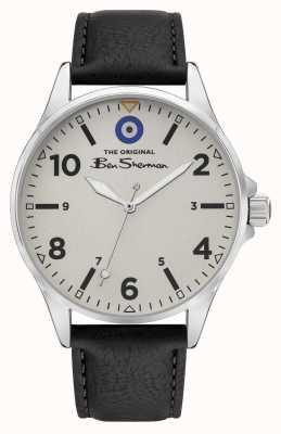 Ben Sherman Black PU Leather Strap Grey Dial Watch BS053B
