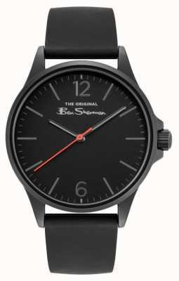Ben Sherman Men's Black Silicone Strap Black Dial BS052BB