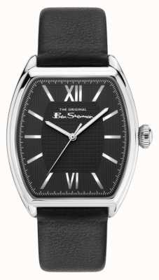 Ben Sherman Men's Black Pu Strap Black Dial BS047B