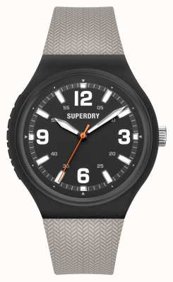 Superdry Warm Grey Soft Touch Silicone Matt Black Dial SYG345E