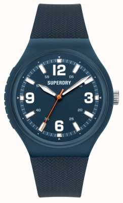 Superdry Navy Soft Touch Silicone Matt Blue Dial SYG345U