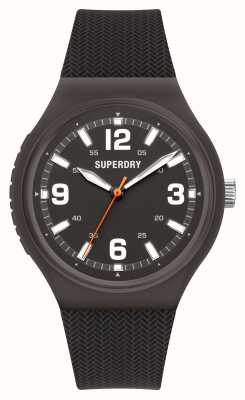 Superdry Black Soft Touch Silicone Matt Black Dial SYG345B