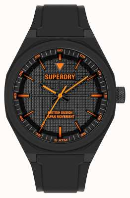Superdry Black Silicone Soft Touch Black Dial SYG324B