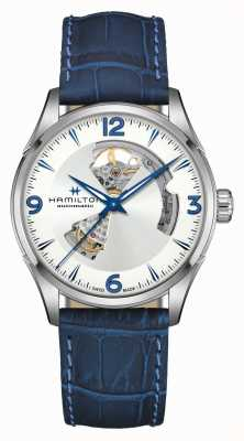 Hamilton Jazzmaster | Automatic | Open Heart |  Blue Leather Strap H32705651