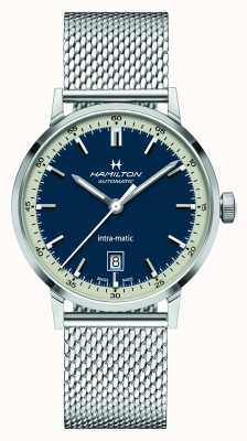 Hamilton American Classic | Intra-matic | Steel Mesh Bracelet | Blue Dial H38425140