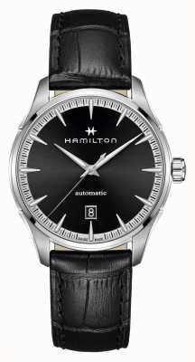 Hamilton Jazzmaster | Auto | Black Leather Strap | Black Dial H32475730