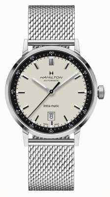 Hamilton American Classic | Intra-matic | Steel Mesh Bracelet | White Dial H38425120