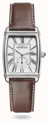 Michel Herbelin Women's | Art Déco | Silver Dial | Brown Leather Strap 10638/08MA