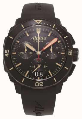Alpina Seastrong Diver 300 | Chronograph | Black Silicone Strap AL-372LBBG4FBV6