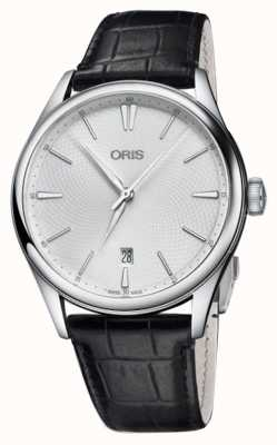 ORIS Men's Artelier Date 40mm Automatic Black Leather Strap 01 733 7721 4051-07 5 21 64FC