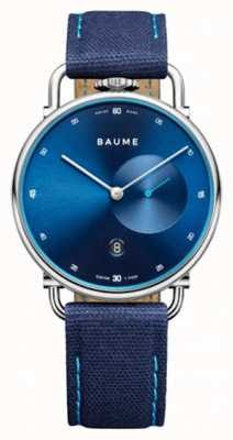 Baume & Mercier BAUME| Eco-Friendly Quartz | Blue Dial | Blue Cork Backed Strap M0A10601
