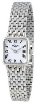 Rotary Womens Stainless Steel White Dial Watch LB00554/01