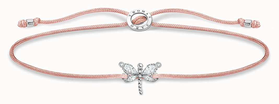 Thomas Sabo Little Secrets | Pink Nylon Bracelet | White Dragonfly LS118-401-19-L20V