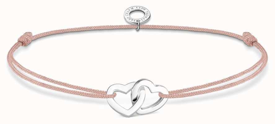 Thomas Sabo Little Secrets | Pink Nylon Double Hearts Bracelet LS121-173-19-L20V